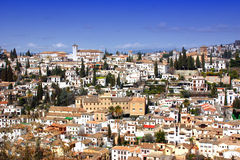 Granada, Spain. Houses and Buildings on the side of a hill in Granada, Andalusia, Spain Stock Photos