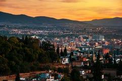 Granada, Spain. Aerial view of Granada royalty free stock photos