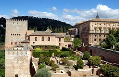 Granada, Spain:  The Alhambra Royalty Free Stock Photos