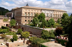 Granada, Spain: The Alhambra Gardens Royalty Free Stock Photo