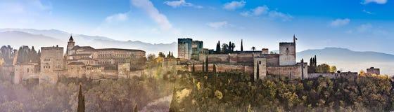 Granada,Spain. Alhambra , Generalif,Patio de los Leone in Alhambra, Royal Hall in Alhambra stock images