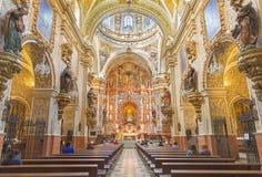 GRANADA, SPAIN: The baroque nave of church Igleisia Nuestra Senora de las Angustias. Stock Photo