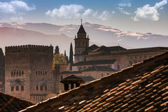 Granada , Spain. Granada is a city in southern Spain, medieval architecture dating to the Moorish occupation, especially the Alhambra Royalty Free Stock Photography