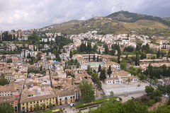 Granada, Spain. Granada city. View from Alhambre palace. Spain Stock Photography