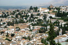 Granada, Spain - El Albaicin town Royalty Free Stock Photos