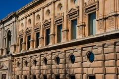 Palace of Charles V. Alhambra of Granada stock photo
