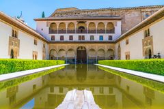 Tourists visiting the old city of Alhambra Royalty Free Stock Image