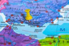 Granada Spain map Stock Image
