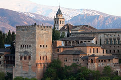 Granada Spain o Alhambra Fotografia de Stock Royalty Free