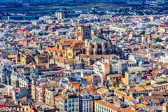 Granada, Spain: Overview of the Cathedral of the Incarnation. stock photo