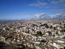 Granada Spain Panorama Royalty Free Stock Image