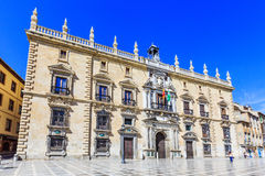 Granada, Spain. Royal Chancellery High Court of Andalusia in Plaza Nueva royalty free stock images