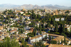 Granada, Spain. View from the Alhambra palace royalty free stock photo