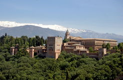 Granada, Spain: View of Historic Alhambra Royalty Free Stock Photos