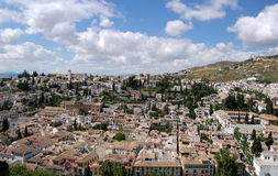 Granada, Spain: View over the City Royalty Free Stock Photography