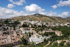 Granada, Spain: View over Historic City Stock Photo