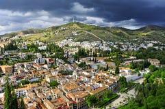 Granada Spanien Arkivfoto