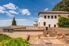 Granada Spanien alhambra stad andalusia Royaltyfria Foton