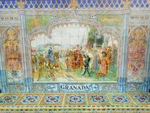 GRANADA SPANIEN FYRKANT, SEVILLE, SPANIEN Arkivbilder