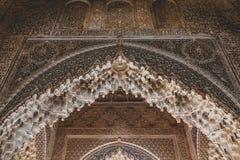 Granada Spanien - 5/6/18: Nasrid dynastislott av lejonen, Alhambra fotografering för bildbyråer