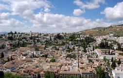 Granada, Spanje: Mening over de Stad Royalty-vrije Stock Fotografie