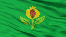Granada-Stadt-Flagge, Kolumbien, Cundinamarca-Abteilung, Nahaufnahme-Ansicht lizenzfreie abbildung