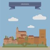 Granada, Stadt in Spanien lizenzfreie abbildung