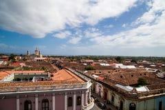 Granada-Stadtansicht mit Himmel von Nicaragua Stockbilder