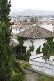 Granada-Stadtbild mit der Kathedrale lizenzfreie stockfotos