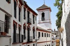 Granada stor historisk stad av Spanien-Andalusia, gammal stad Royaltyfri Fotografi