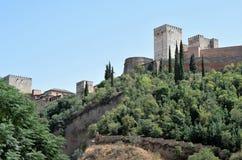 Granada stor historisk stad av Spanien-Andalusia, gammal stad Royaltyfri Foto