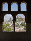 Granada though arched window Stock Image
