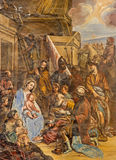 Granada - The Three Magi fresco in the church Monasterio de San Jeronimo Stock Photo