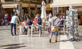 Granada ulicy restauracja Fotografia Royalty Free