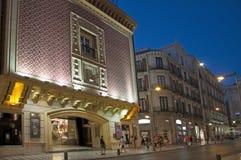 Granada vid natt Arkivfoton