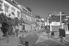 Granada - vierkant en straat Calle Principal de San Bartol Royalty-vrije Stock Afbeeldingen
