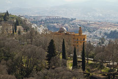 Granada View from Alhambra Royalty Free Stock Images