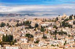Granada view Andalucia, Espana Stock Photos