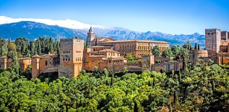 Granada. View of the famous Alhambra, Granada, Spain Stock Image