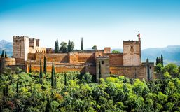 Granada. View of the famous Alhambra, Granada, Spain Royalty Free Stock Photo