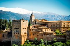 Granada. View of the famous Alhambra, Granada, Spain Royalty Free Stock Photography
