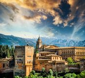 Granada. View of the famous Alhambra, Granada in Spain Royalty Free Stock Images