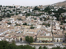 Granada view from La Alhambra Royalty Free Stock Photography