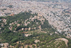 Granada von der Luft Stockbilder