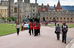 Granadeiro Guards em Windsor Castle, Reino Unido Imagens de Stock