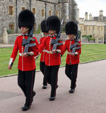 Granadero Guards en Windsor Castle real en Inglaterra Foto de archivo