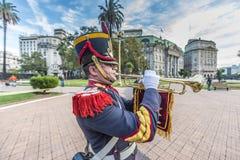 Granaderos del caballo en Buenos Aires, la Argentina. Fotos de archivo libres de regalías