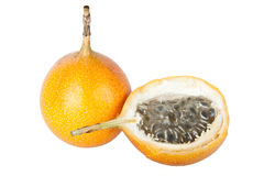 Granadilla. Exotic fruit granadilla isolated on white background Stock Photos