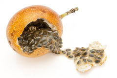 Granadilla. A sub-topical fruit found in South America Stock Photos