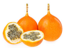 Granadilla. Isolated on white background Royalty Free Stock Images
